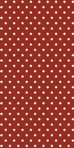Bilde av Serviett rød med hvite prikker
