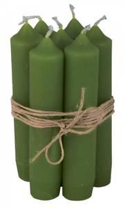Bilde av Kronelys kort variant grønn pris pr. stk.