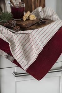 Bilde av Kjøkkenhåndkle strikket, burgunder